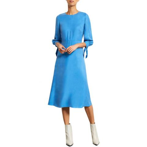 Mint Velvet Bright Blue Cupro Midi Dress