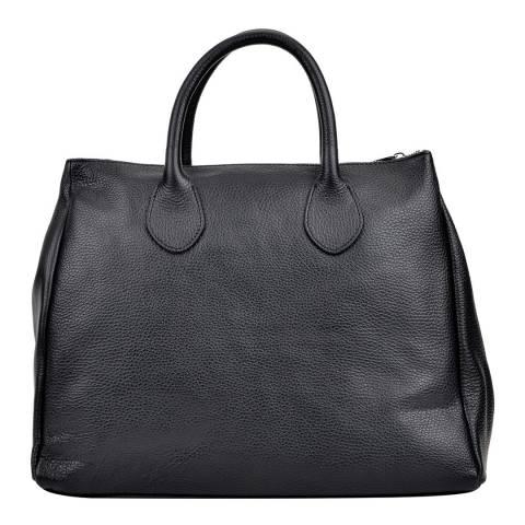 Sofia Cardoni Black Shoulder Tote Bag