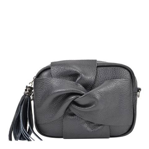 Roberta M Black Bow Tassel Shoulder Bag