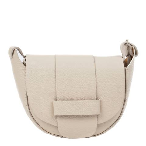 Roberta M Beige Leather Shoulder Bag