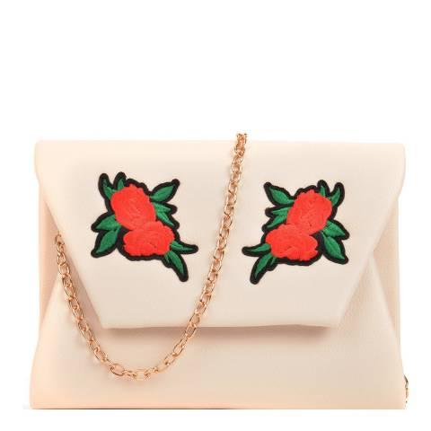 Mangotti Cognac Leather Flower Design Shoulder Bag