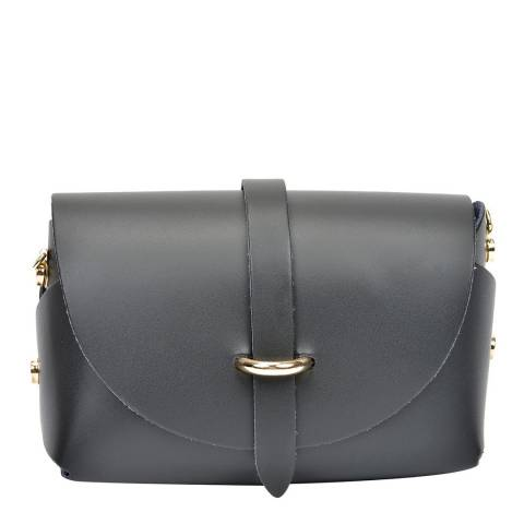 Sofia Cardoni Black Leather Shoulder Bag