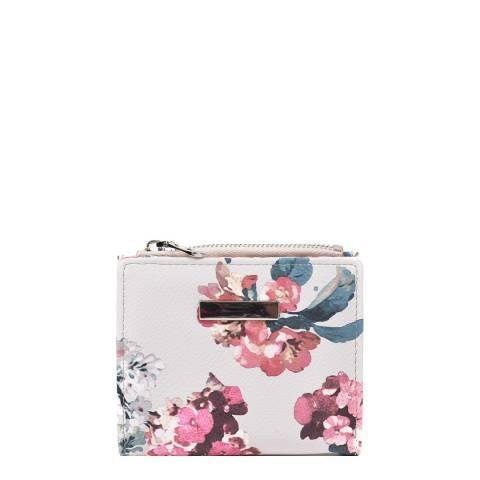 Roberta M Beige / Multi Floral Wallet