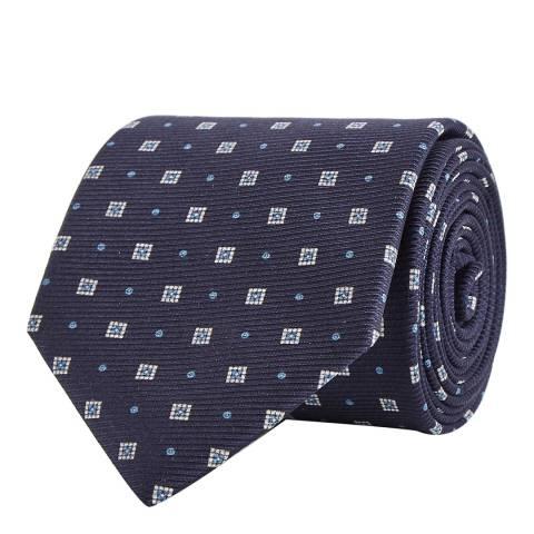 Reiss Navy Geo Print Grant Tie