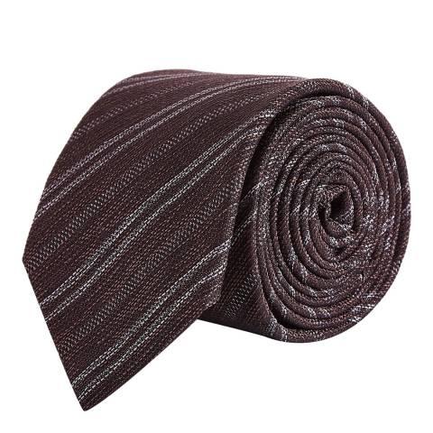 Reiss Burgundy Fleur Melange Tie