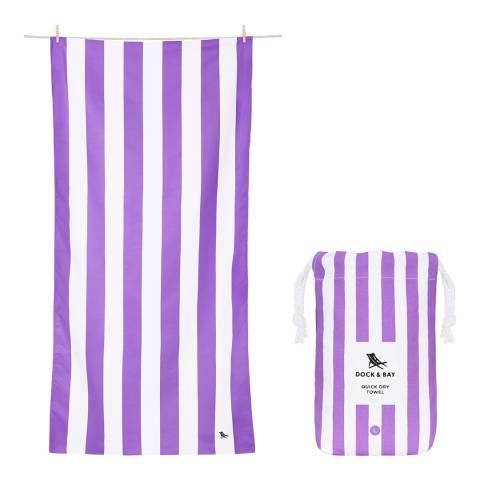 Dock & Bay Cabana Large Beach Towel, Brighton Purple