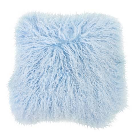 AUSKIN Powder Blue Longwool Sheepskin Cushion 35x35cm
