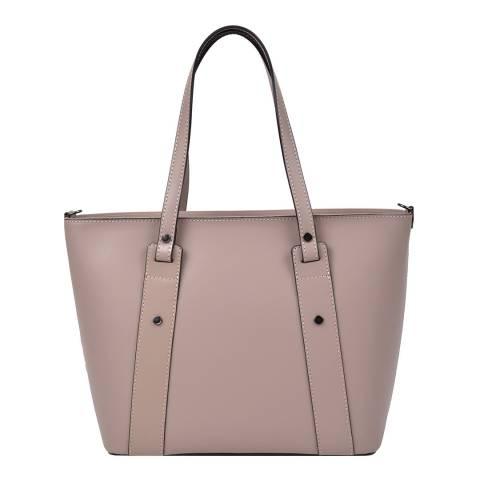 Roberta M Blush Leather Top Handle Bag