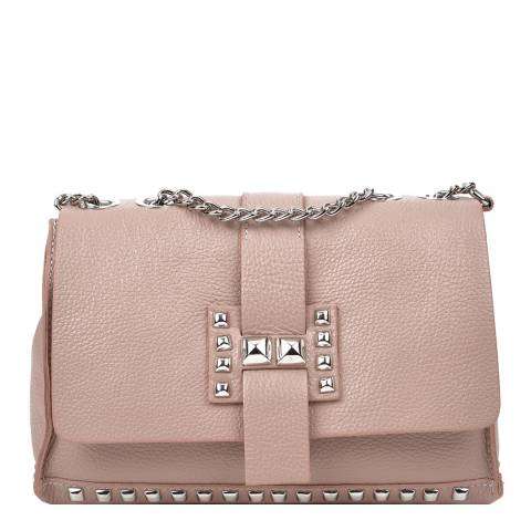 Roberta M Blush Leather Chain Shoulder Bag