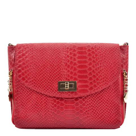 Roberta M Red Leather Shoulder Bag