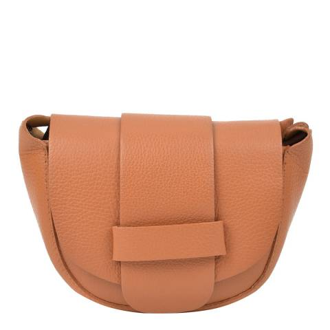 Roberta M Cognac Leather Shoulder Bag