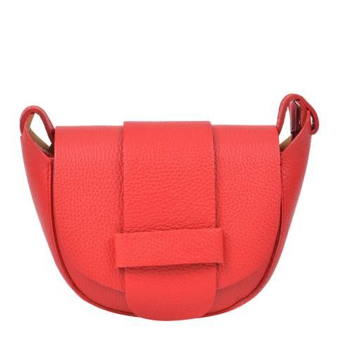 Roberta M Red Leather Shoulder Bag