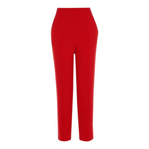 Karen Millen Red Waist Emphasis Trousers