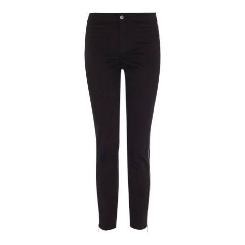 Karen Millen Black Side Zip Cotton Stretch Skinny Jeans