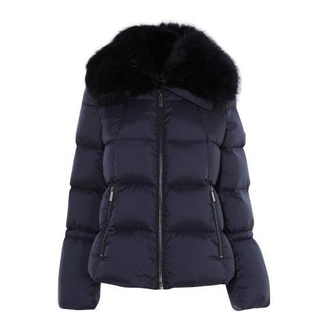 Karen Millen Navy Boxy Padded Puffer Jacket