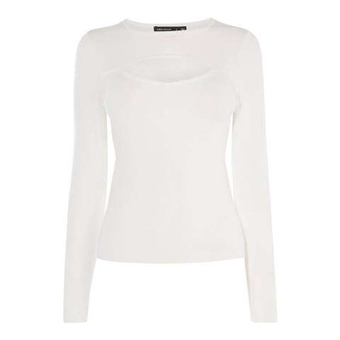 Karen Millen White Cut Out Knit Jumper
