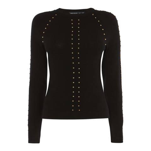 Karen Millen Black Stud Embellished Jumper