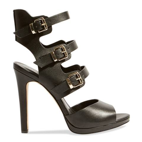 Karen Millen Black Caged Strappy Stiletto Heels