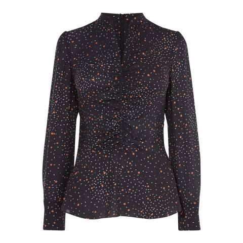 Karen Millen Black Star Print Blouse