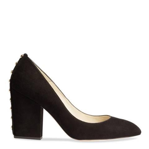 Karen Millen Black Stud Suede Leather Block Heels