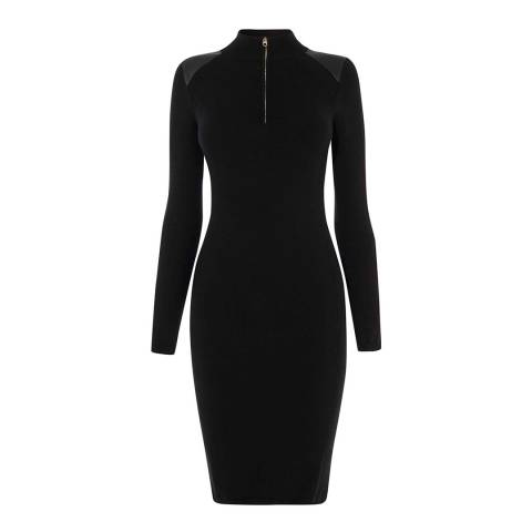Karen Millen Black Knit Bodycon Dress