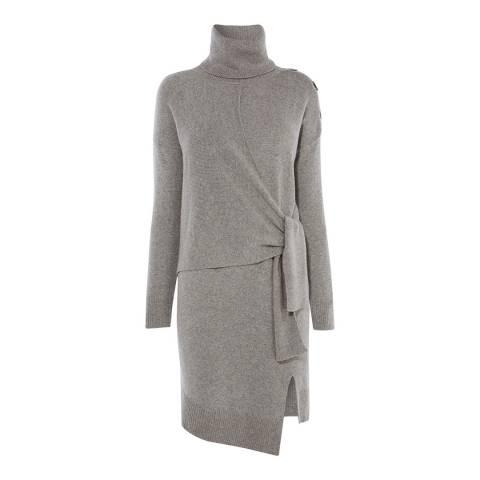 Karen Millen Grey Cashmere Knit Tunic