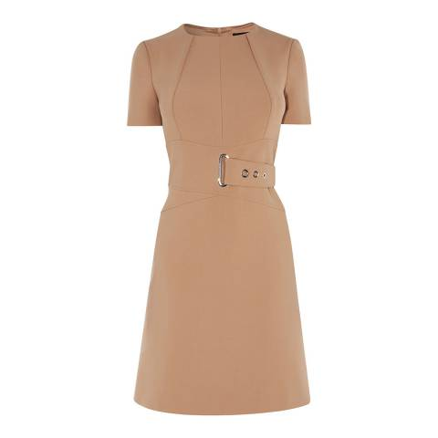 Karen Millen Brown A-Line Wrap Dress
