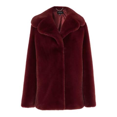 Karen Millen Purple Relaxed Faux Fur Jacket