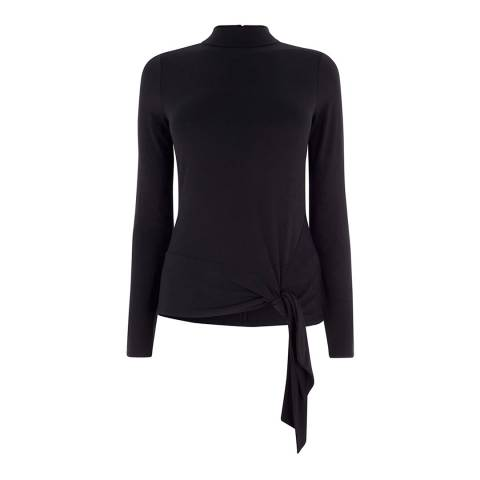 Karen Millen Black Tie Hem T-Shirt