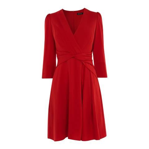 Karen Millen Red Wrap Waist Dress