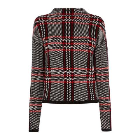Karen Millen Check High Neck Jumper