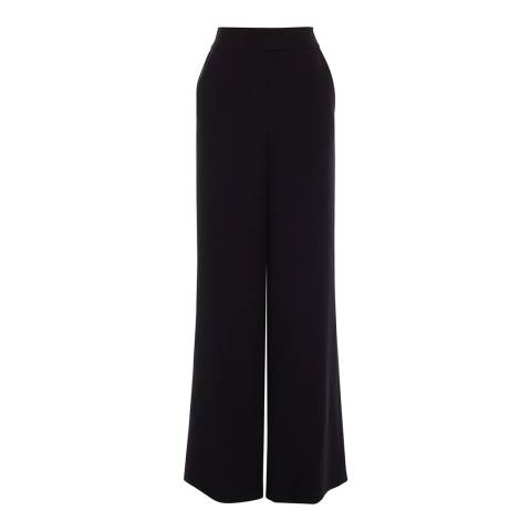 Karen Millen Black Fluid Wide Leg Trousers