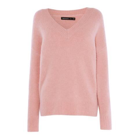 Karen Millen Pink Brushed Alpaca Blend Jumper