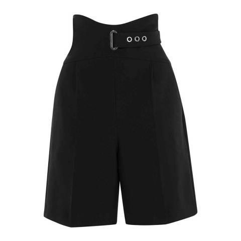 Karen Millen Black Belted City Corset Shorts