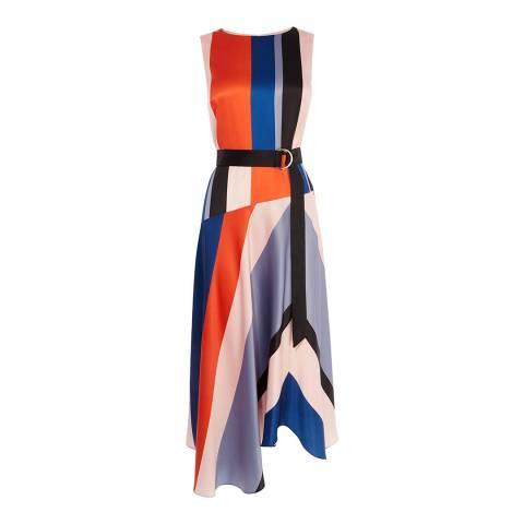 Karen Millen Multi Block Stripe Satin Dress