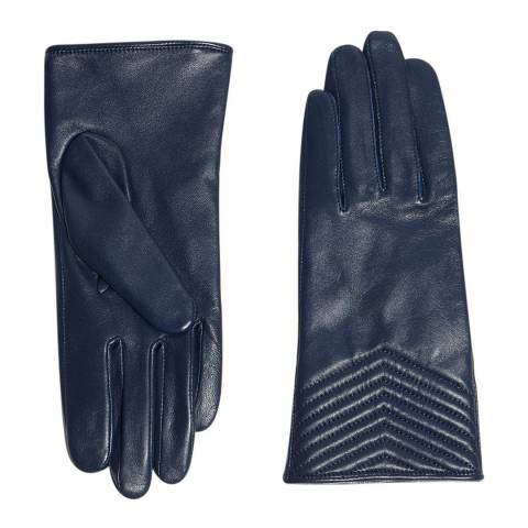 Karen Millen Navy Quilted Leather Glove
