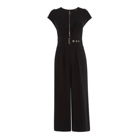 Karen Millen Black Corsetry Waist Jumpsuit
