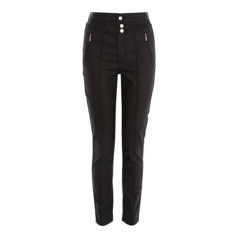 Karen Millen Black Coated Corset Jeans