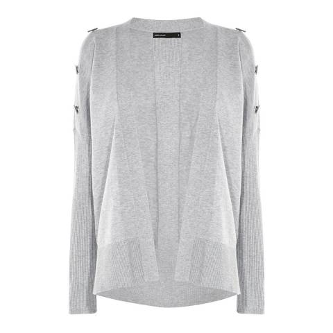 Karen Millen Grey Metal Work Knit Cardigan