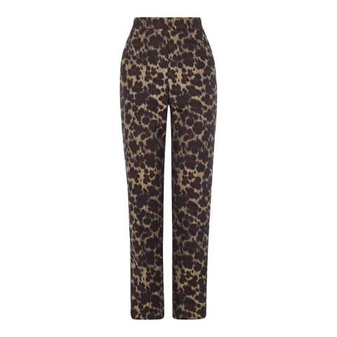 Karen Millen Multi Leopard Jacquard Slim Trousers