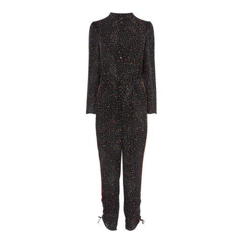 Karen Millen Black Conversational Star Print Jumpsuit