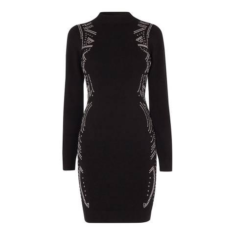 Karen Millen Black Intricate Stud Knit Dress