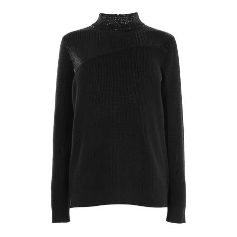Karen Millen Black Sequin Embellished Jumper