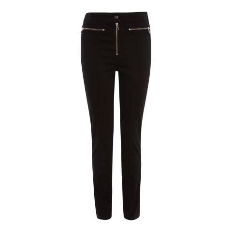 Karen Millen Black Biker Cotton Stretch Skinny Jeans