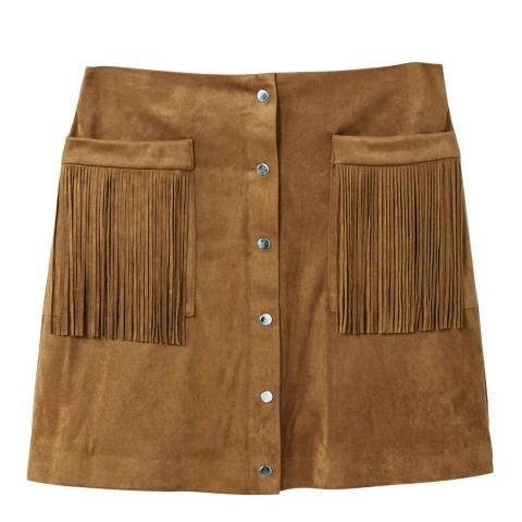 Mango Pocket fringed skirt