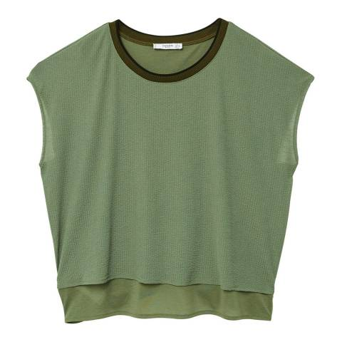 Mango Detail neck t-shirt