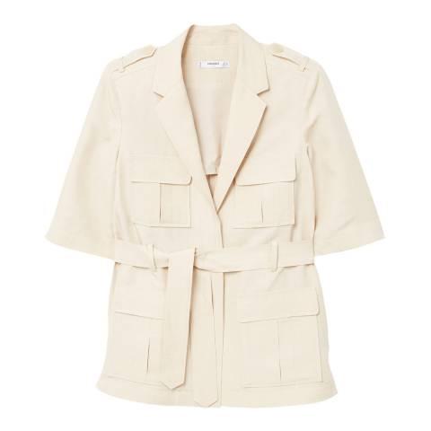 Mango Pocket linen-blend jacket