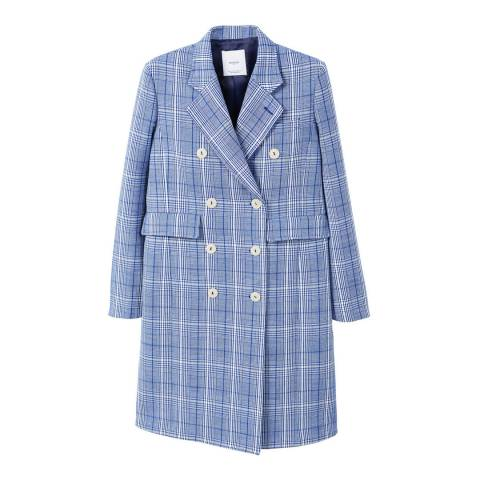 Mango Checked structured coat