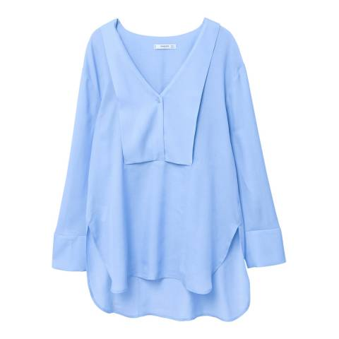 Mango Flowy panel blouse