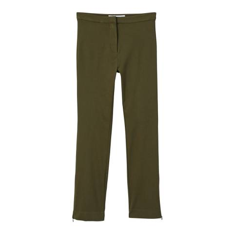 Mango Zipped straight trousers